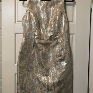 Trina Turk Dresses - Tina Turk Metallic Dress .  Size 6 NWT